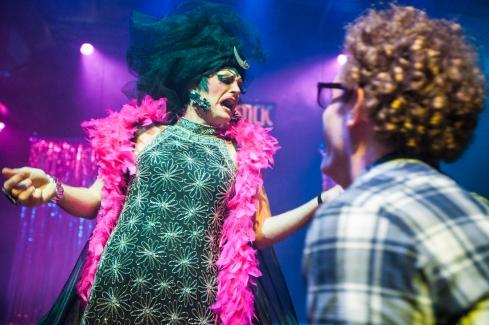 Brief Encounters 18 Isolde N. Barron (drag queen) + Sam Mullins (humorist) Photographer Kyla Bailey