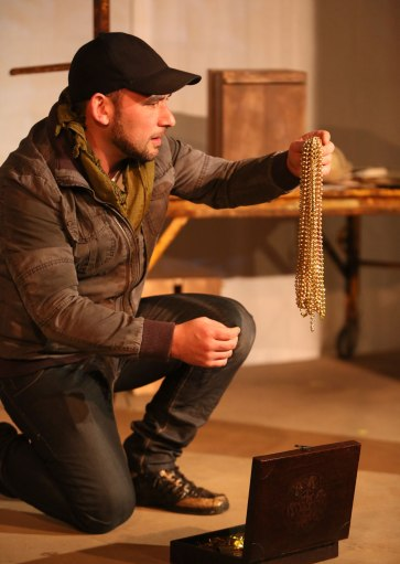 """""""Ghosts in Baghdad"""" at Little Mountain Theatre, 2014. Josh Drebit. Photo by Tim Matheson."""