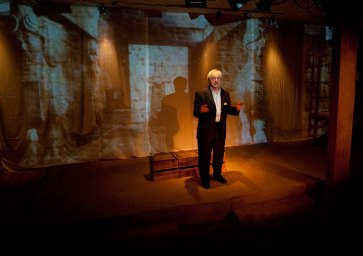 """""""Ghosts in Baghdad"""" at Little Mountain Theatre, 2014. Alec Willows. Photo by Tim Matheson."""