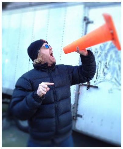 Director John Murphy, being his usual quiet self.