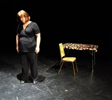 """I am the Bastard Daughter of Engelbert Humperdinck"" at the Firehall Arts Centre, 2013. Photo by Chuk Foto."