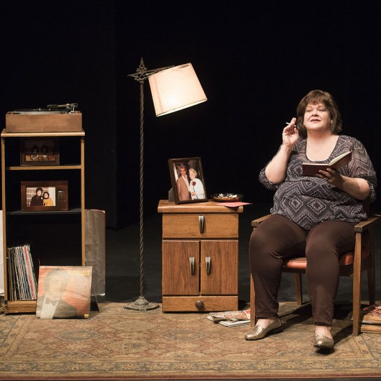 "Kathryn Kirkpatrick in ""I am the Bastard Daughter of Engelbert Humperdinck."" Photo by Emily Cooper."