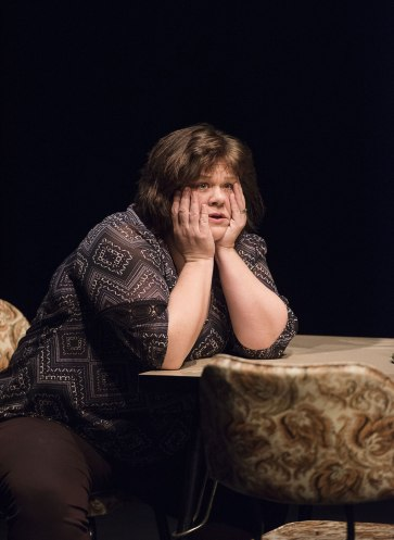 "Kathryn Kirkpatrick in ""I am the Bastard Daughter of Engelbert Humperdinck."" Photo by Emily Cooper."